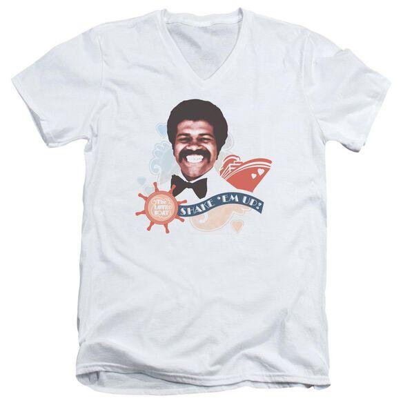 Love Boat Shake Em Up Short Sleeve Adult V Neck T-Shirt