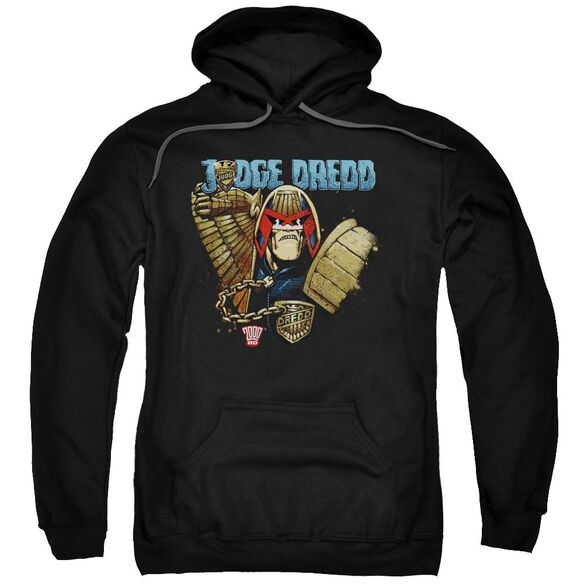 Judge Dredd Smile Scumbag Adult Pull Over Hoodie