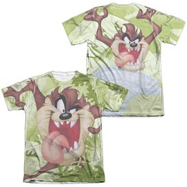 Looney Tunes Taz (Front Back Print) Adult Poly Cotton Short Sleeve Tee T-Shirt