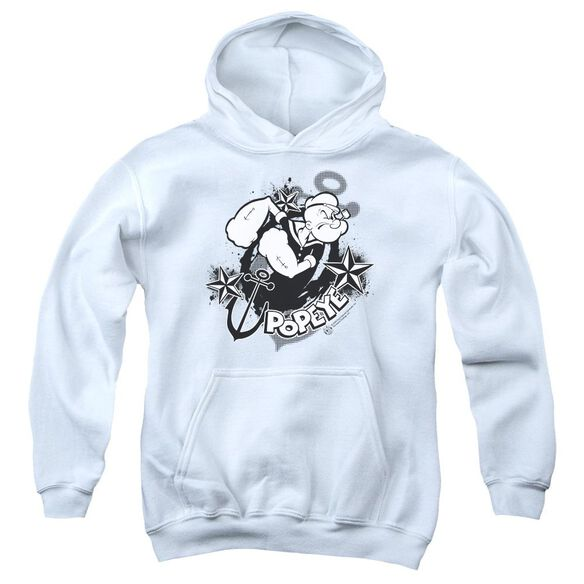 Popeye Stars And Anchor Youth Pull Over Hoodie