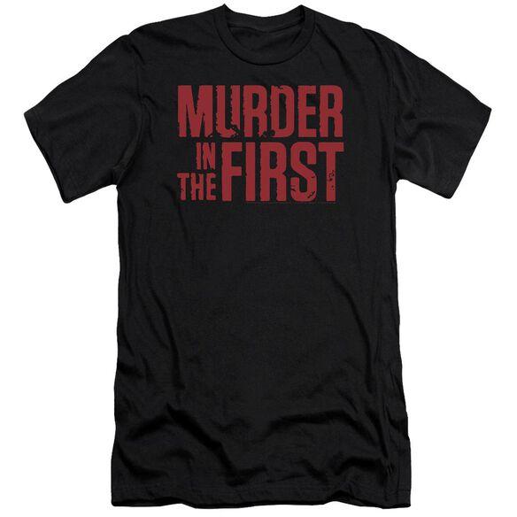 Murder In The Frist Stacked Logo Premuim Canvas Adult Slim Fit