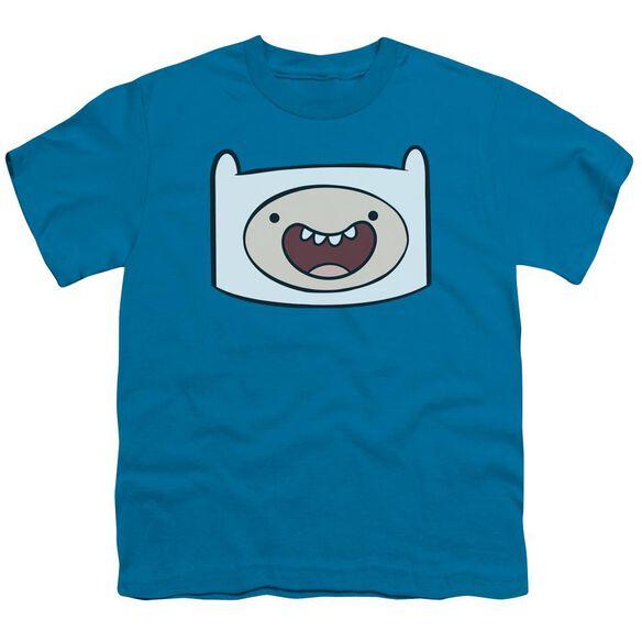 Adventure Time Finn Head Short Sleeve Youth T-Shirt