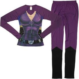 Catwoman Suit Long Sleeve Junior Pajama Set