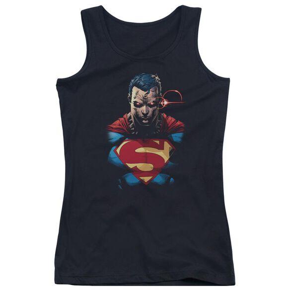 Superman Displeased Juniors Tank Top
