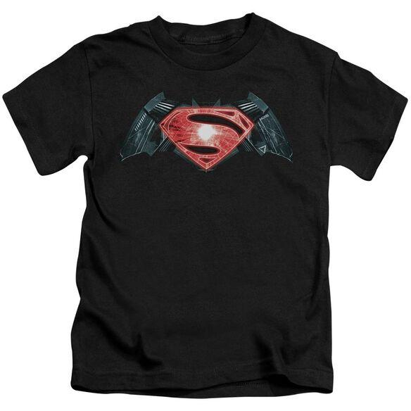 Batman V Superman Industrial Logo Short Sleeve Juvenile T-Shirt