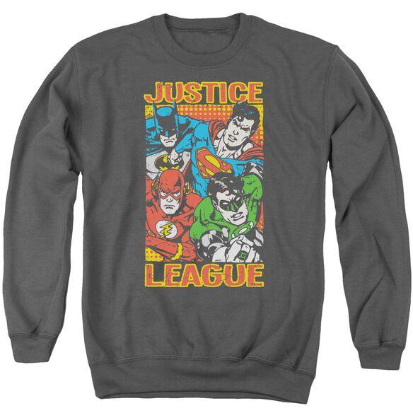 Jla Hero Mashup Adult Crewneck Sweatshirt