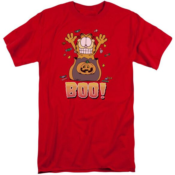 Garfield Boo! Short Sleeve Adult Tall T-Shirt