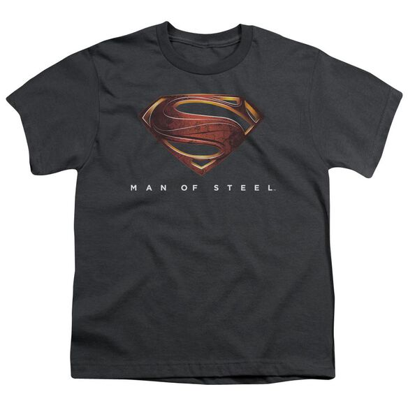 Man Of Steel Mos New Logo Short Sleeve Youth T-Shirt