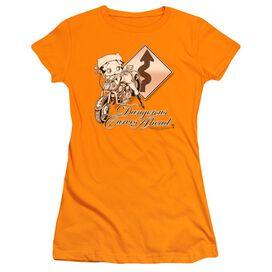 Betty Boop Dangerous Curves Short Sleeve Junior Sheer T-Shirt
