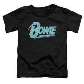 David Bowie Logo Short Sleeve Toddler Tee Black T-Shirt