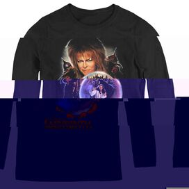 LABYRINTH I HAVE A GIFT - WOMENS LONG SLEEVE TEE - BLACK