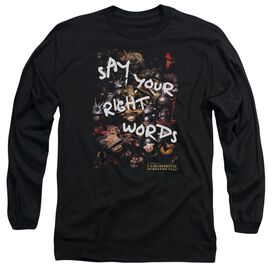 Labyrinth Right Words Long Sleeve Adult T-Shirt