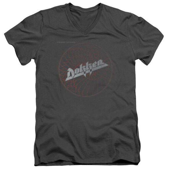 Dokken Breaking The Chains Short Sleeve Adult V Neck T-Shirt