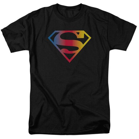 SUPERMAN GRADIENT SUPERMAN LOGO - S/S ADULT 18/1 - BLACK T-Shirt