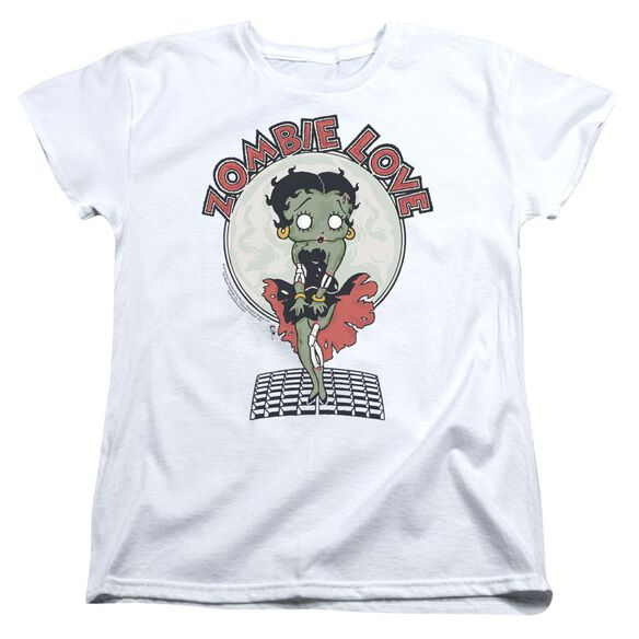 Betty Boop Breezy Zombie Love Short Sleeve Womens Tee T-Shirt