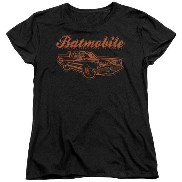 BATMAN BATMOBILE - S/S WOMENS TEE - BLACK T-Shirt