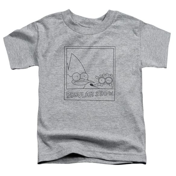 Regular Show Poloroid Short Sleeve Toddler Tee Athletic Heather T-Shirt