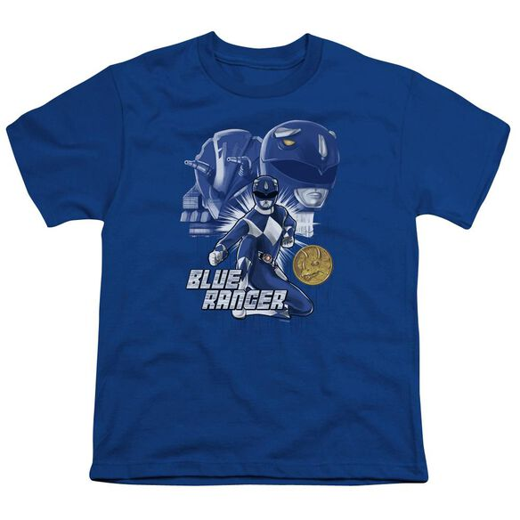 Power Rangers Ranger Short Sleeve Youth Royal T-Shirt