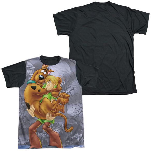 Scooby Doo Scooby And Shaggy Short Sleeve Adult Front Black Back T-Shirt