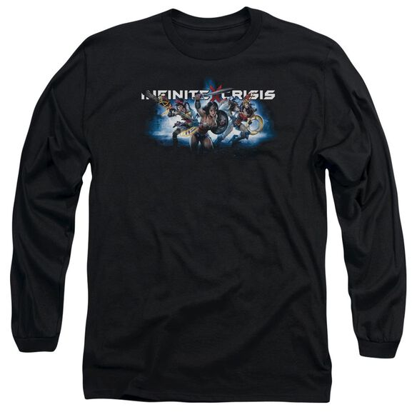 Infinite Crisis Ic Blue Long Sleeve Adult T-Shirt