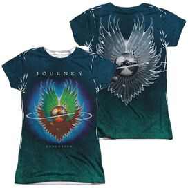Journey Evolution Sub (Front Back Print) Short Sleeve Junior Poly Crew T-Shirt