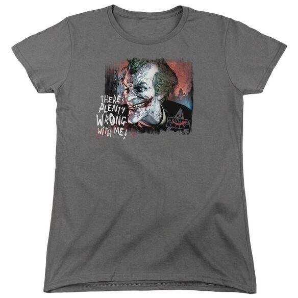 Arkham City Plenty Wrong Short Sleeve Womens Tee T-Shirt