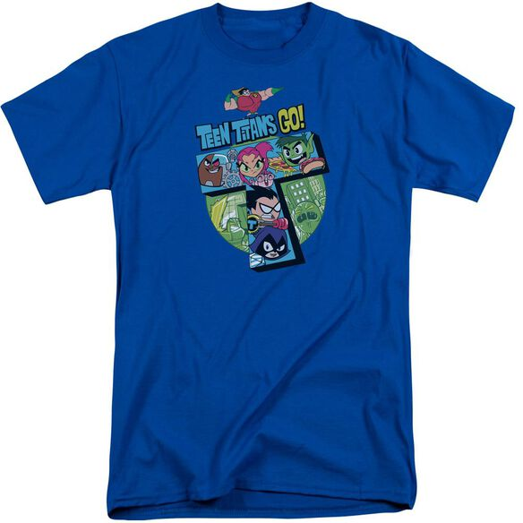 Teen Titans Go T Short Sleeve Adult Tall Royal T-Shirt