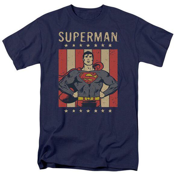 Dc Retro Liberty Short Sleeve Adult T-Shirt