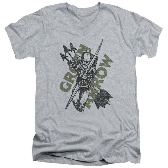 Jla Archers Arrows Short Sleeve Adult V Neck Athletic T-Shirt