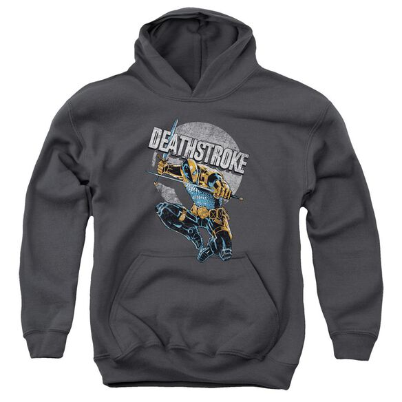 Jla Deathstroke Retro Youth Pull Over Hoodie