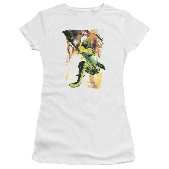 Jla Painted Archer Short Sleeve Junior Sheer T-Shirt