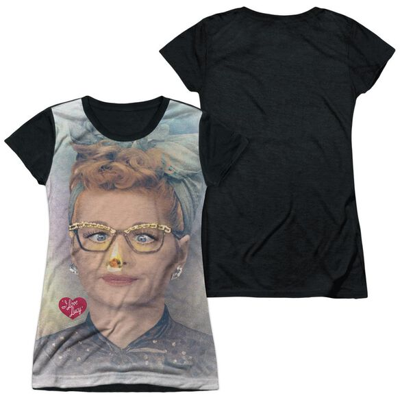 I Love Lucy Oh Nose Short Sleeve Junior Poly Black Back T-Shirt