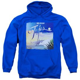 Zz Top Tejas Adult Pull Over Hoodie Royal