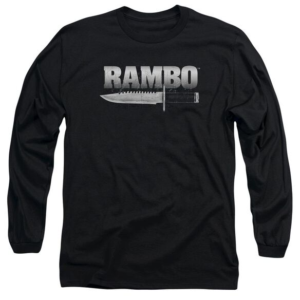 Rambo:First Blood Knife Long Sleeve Adult T-Shirt
