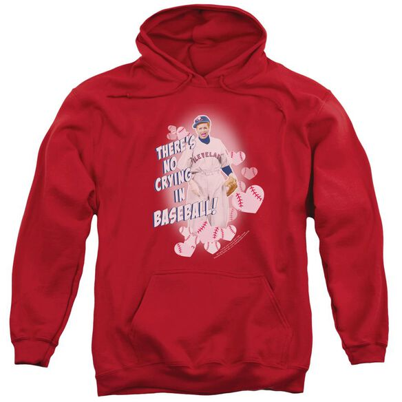 I Love Lucy No Crying In Baseball Adult Pull Over Hoodie