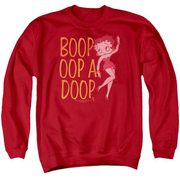 Betty Boop Classic Oop Adult Crewneck Sweatshirt