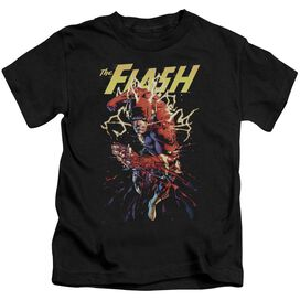 Jla Ripping Apart Short Sleeve Juvenile T-Shirt