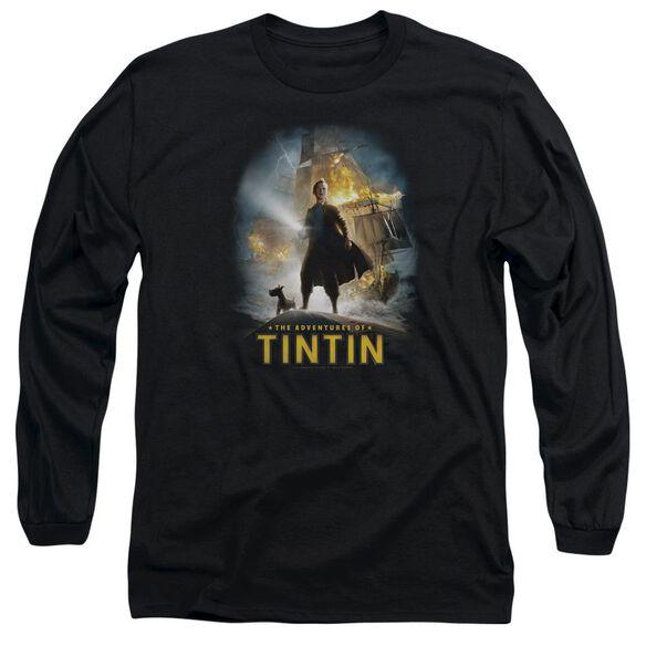 Tintin Poster Long Sleeve Adult T-Shirt