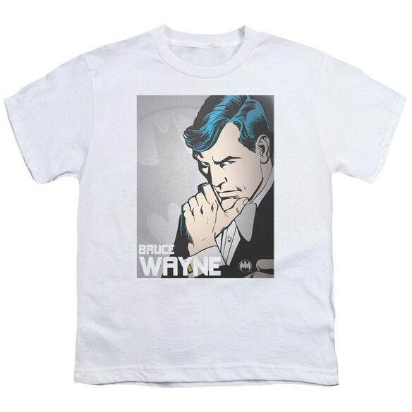 Dc Bruce Wayne Short Sleeve Youth T-Shirt