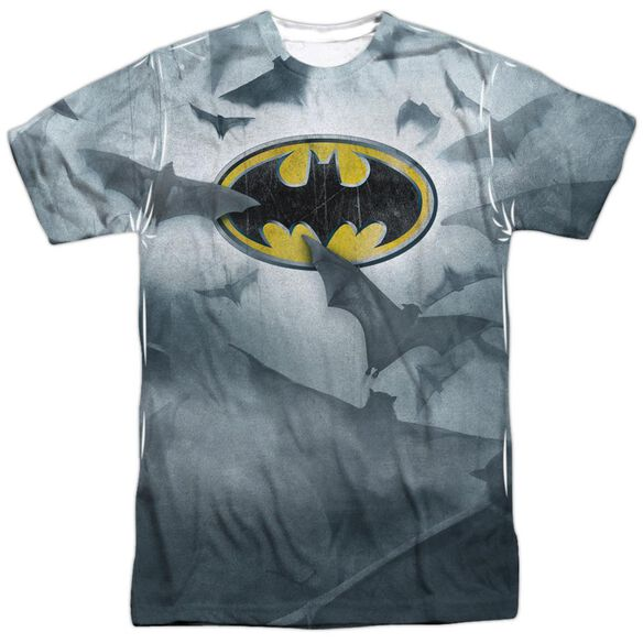 Batman Bats Logo Short Sleeve Adult 100% Poly Crew T-Shirt