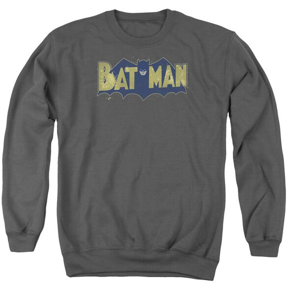 Batman Vintage Logo Splatter Adult Crewneck Sweatshirt
