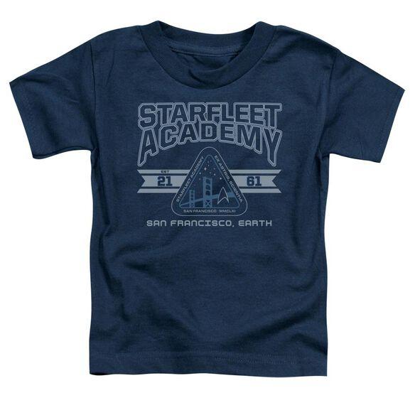 Star Trek Starfleet Academy Earth Short Sleeve Toddler Tee Navy Lg T-Shirt