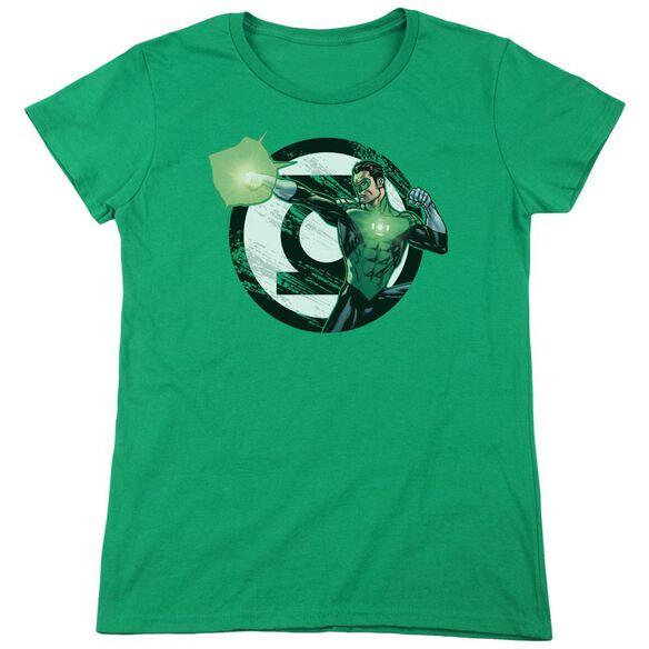 Jla Blasting Logo Short Sleeve Womens Tee Kelly T-Shirt