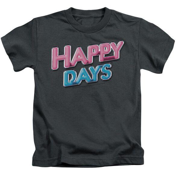 Happy Days Happy Days Logo Short Sleeve Juvenile Charcoal T-Shirt