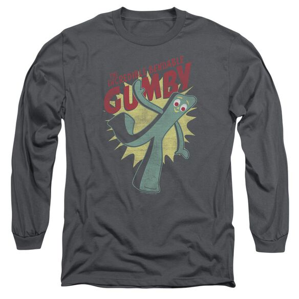 Gumby Bendable Long Sleeve Adult T-Shirt