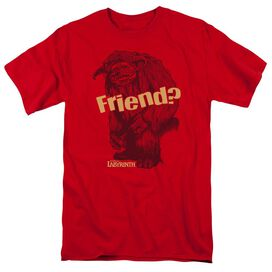 Labyrinth Ludo Friend Short Sleeve Adult Red T-Shirt