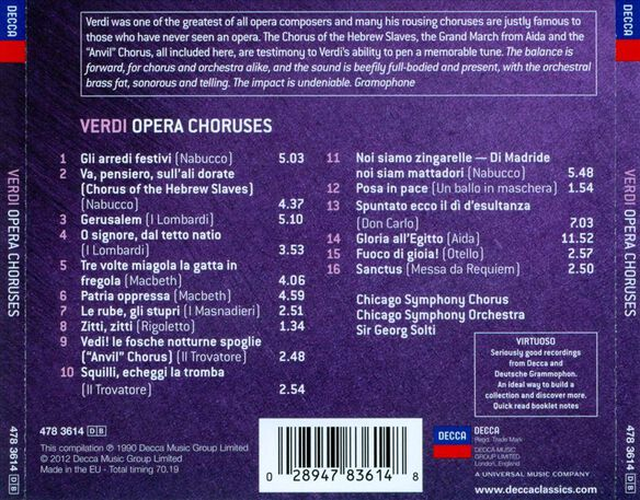 Virtuoso: Verdi: Opera Choruses