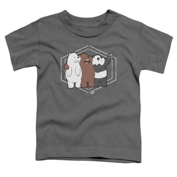We Bare Bears Selfie Short Sleeve Toddler Tee Charcoal T-Shirt