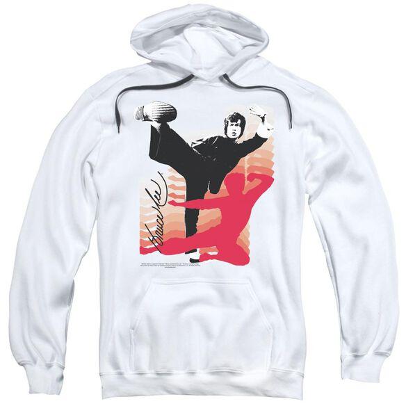 Bruce Lee Kick It Adult Pull Over Hoodie