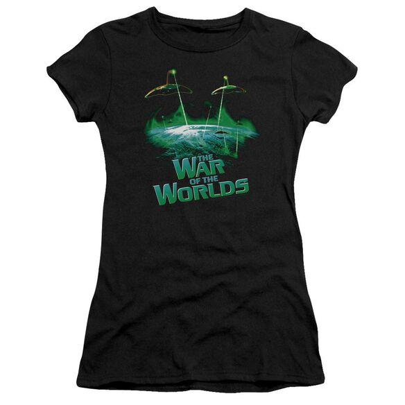 War Worlds Global Attack Short Sleeve Junior Sheer T-Shirt